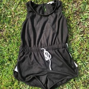 Black and white romper Large